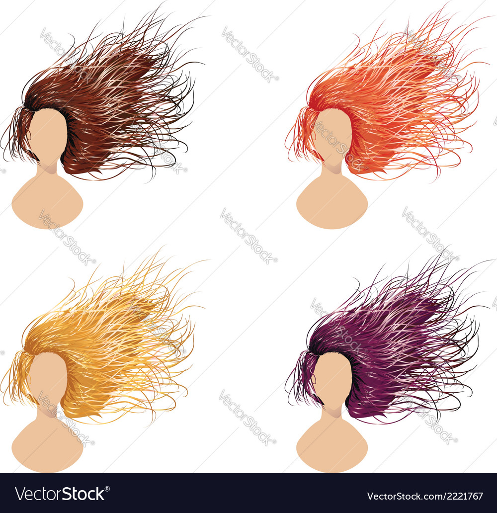Flowing hair vector | Price: 1 Credit (USD $1)