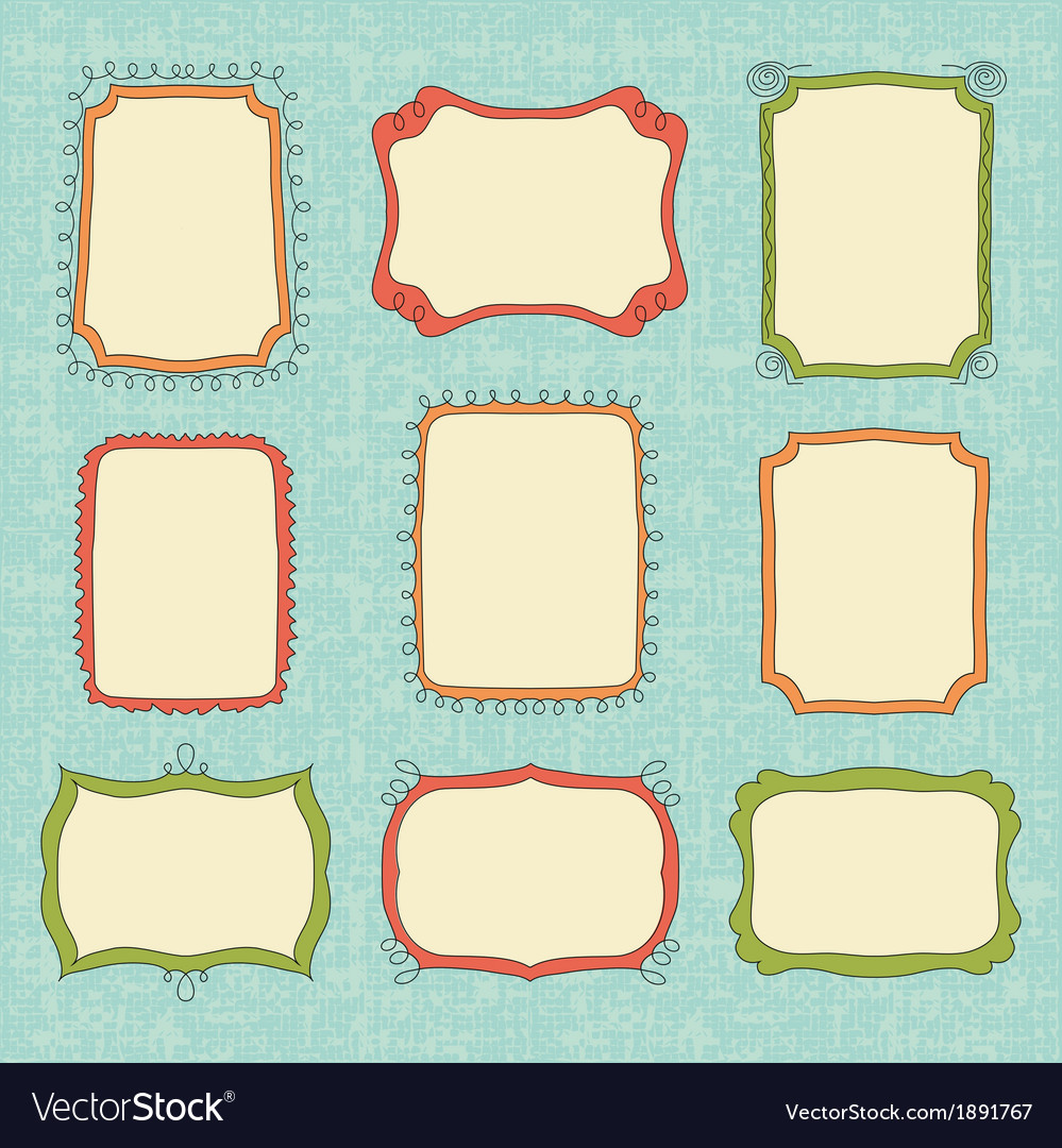 Hand-drawn frames vector   Price: 1 Credit (USD $1)