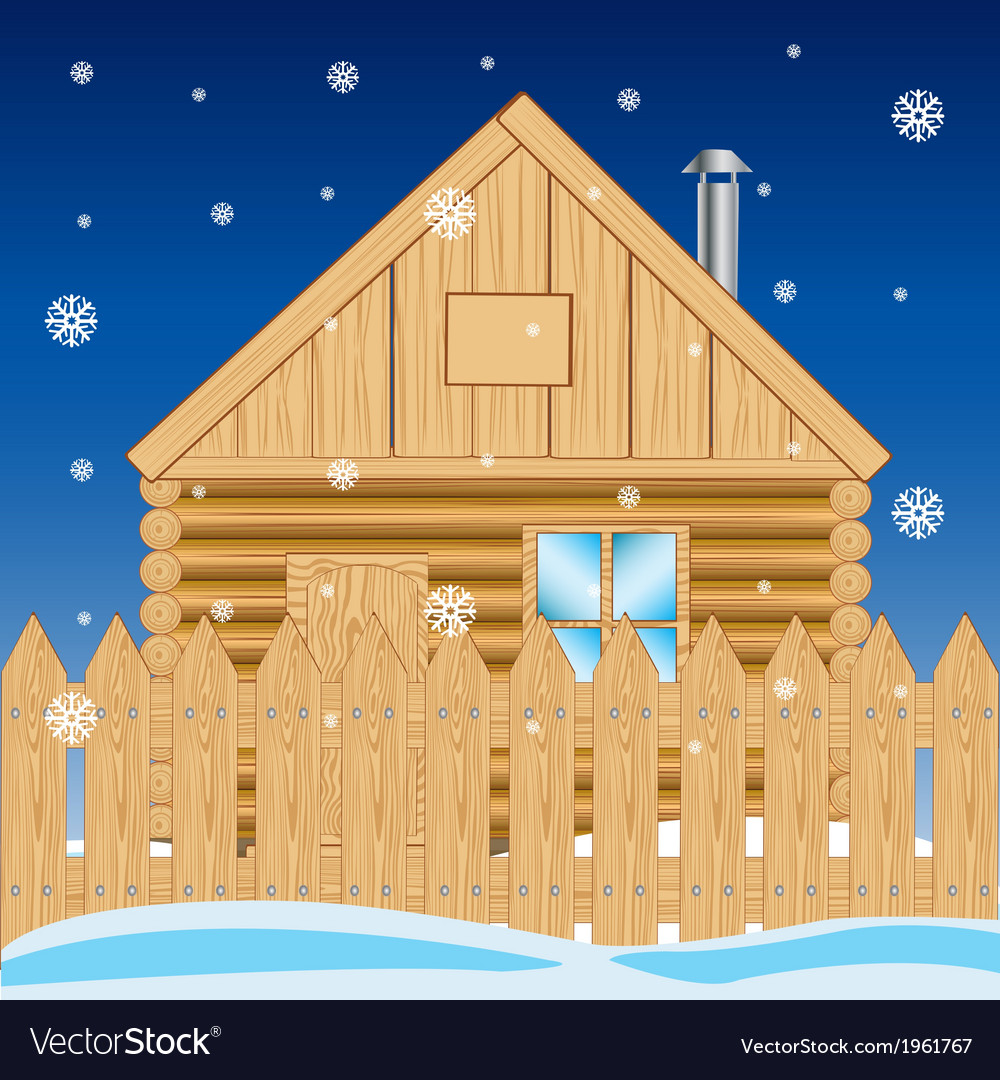 House in settle in winter vector   Price: 1 Credit (USD $1)