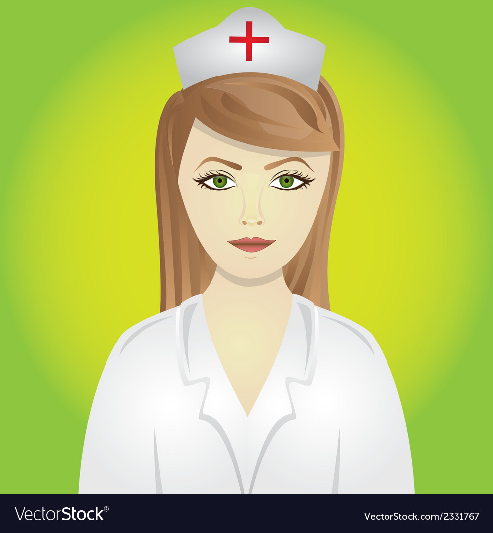 Nurse isolated on green background vector | Price: 1 Credit (USD $1)