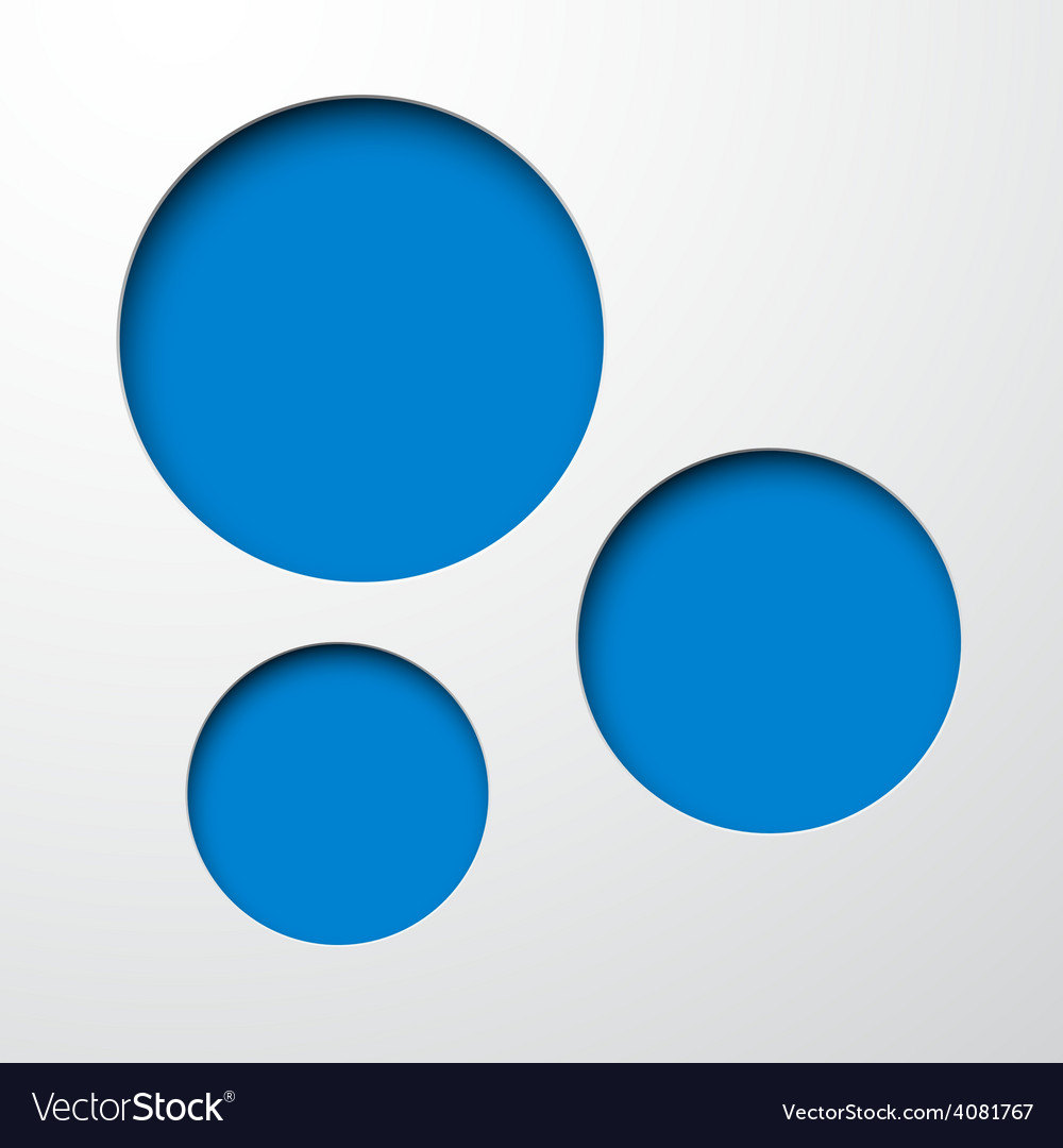 Paper blue round holes vector | Price: 1 Credit (USD $1)