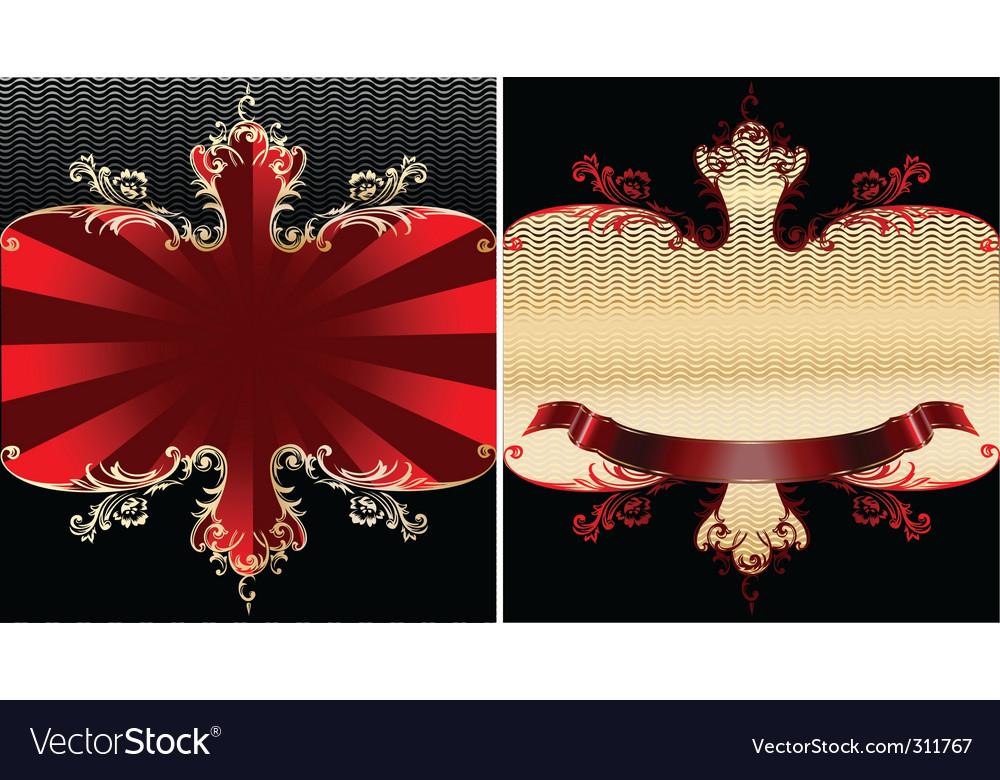Royal banner vector | Price: 1 Credit (USD $1)