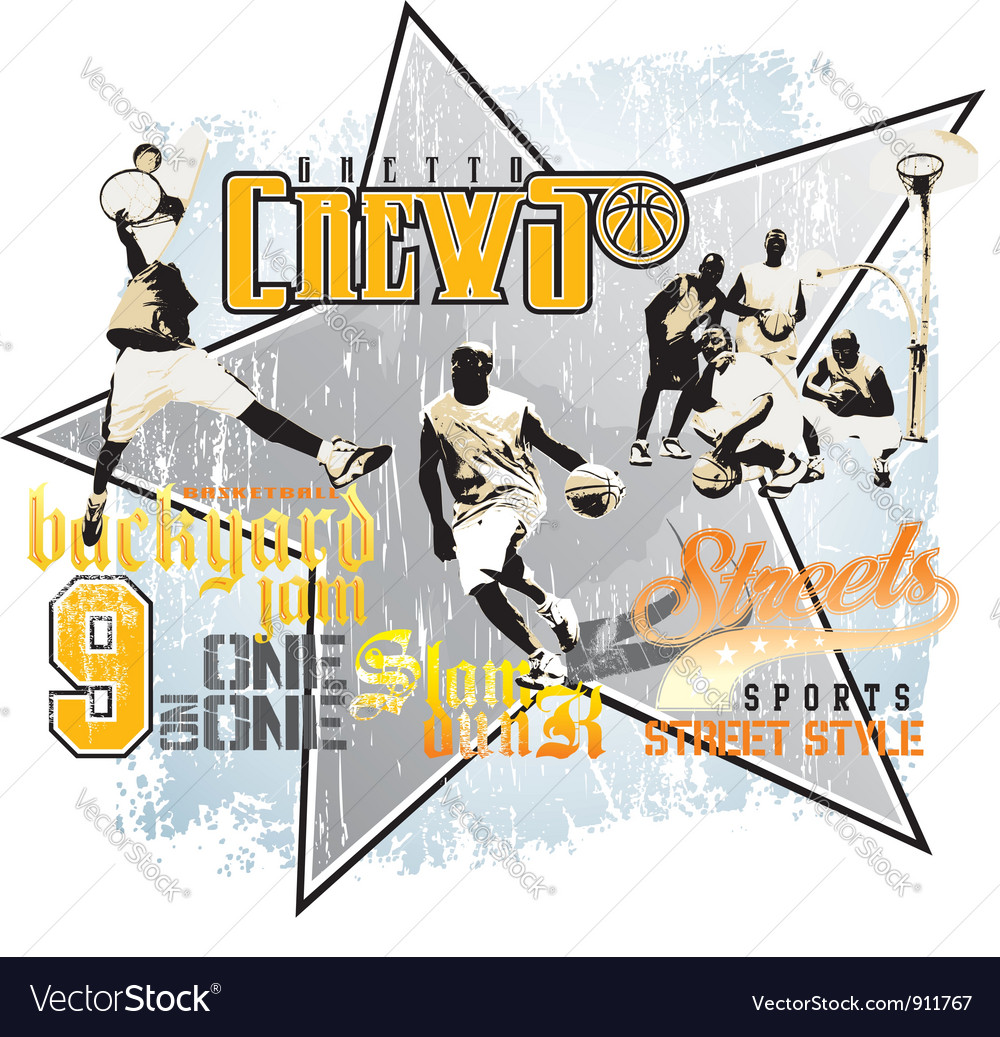 Slam dunk basketball vector | Price: 1 Credit (USD $1)