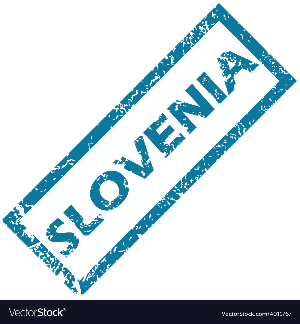 Slovenia rubber stamp vector | Price: 1 Credit (USD $1)