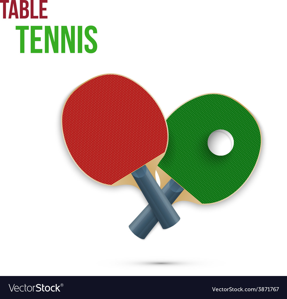 Two rackets for playing table tennis vector | Price: 1 Credit (USD $1)