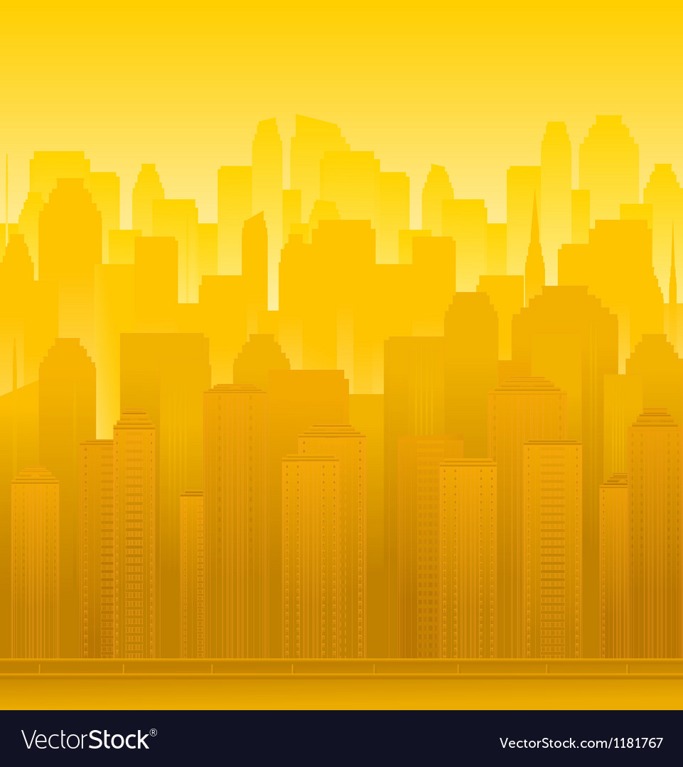 Urban modern landscape vector | Price: 1 Credit (USD $1)