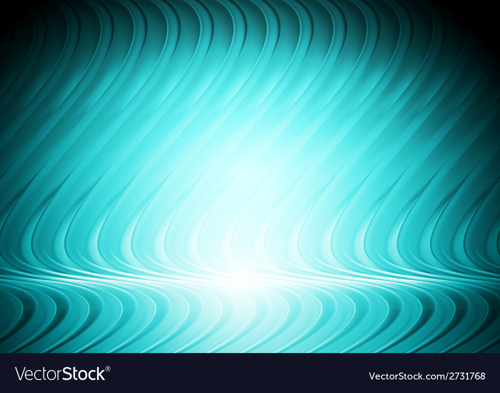 Abstract blue cyan wavy design vector | Price: 1 Credit (USD $1)