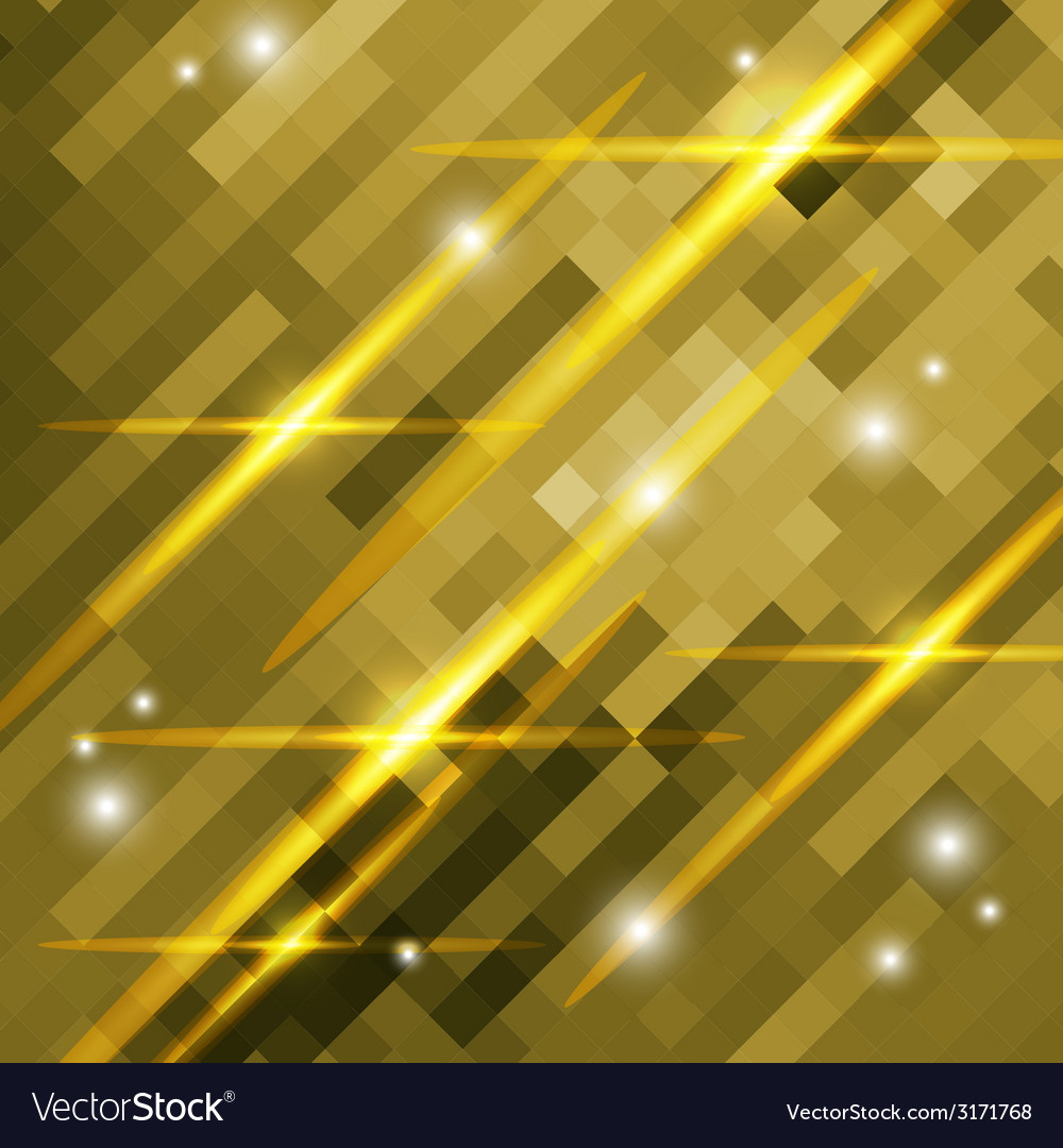 Abstract gold background of squares vector | Price: 1 Credit (USD $1)