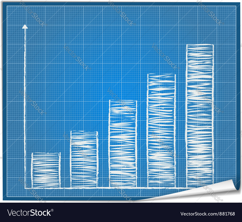 Bar graph blueprint vector | Price: 1 Credit (USD $1)