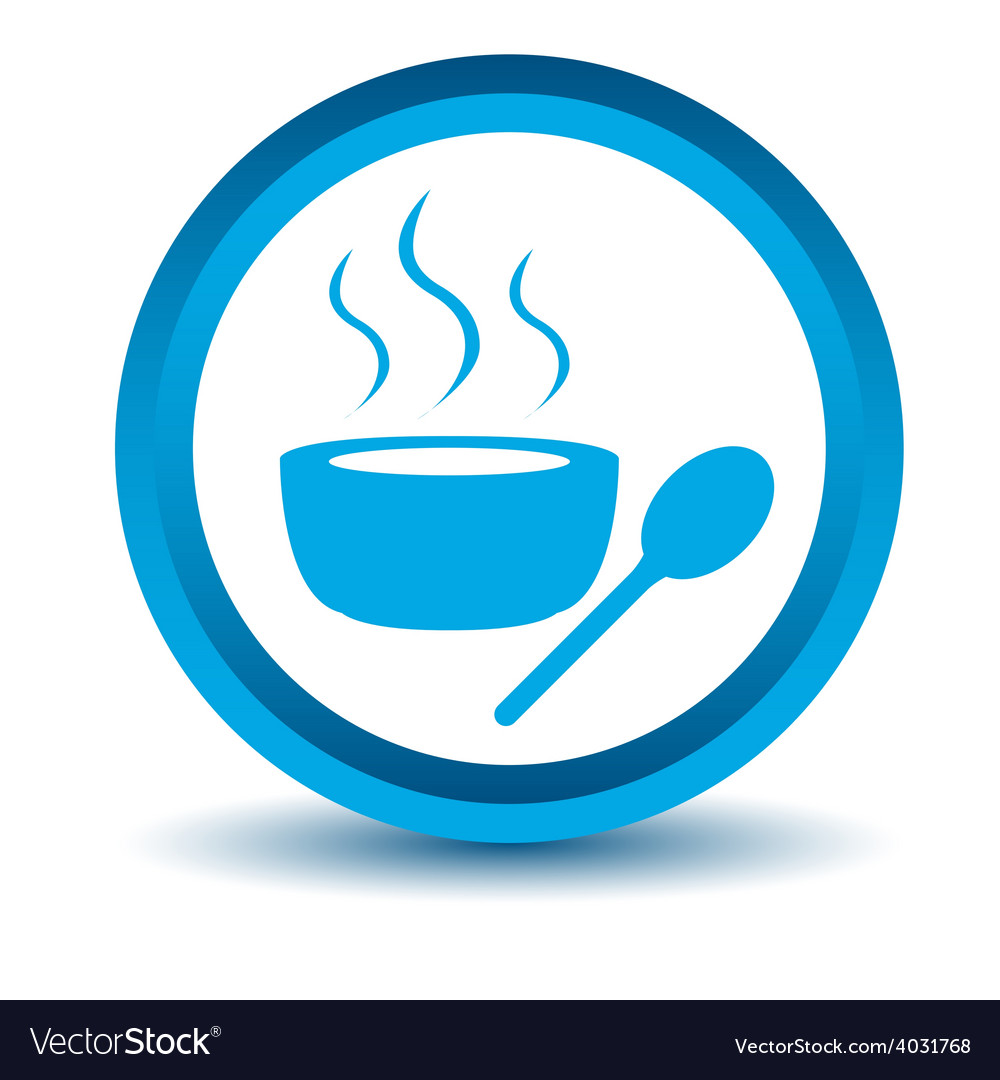 Blue lunch time icon vector | Price: 1 Credit (USD $1)