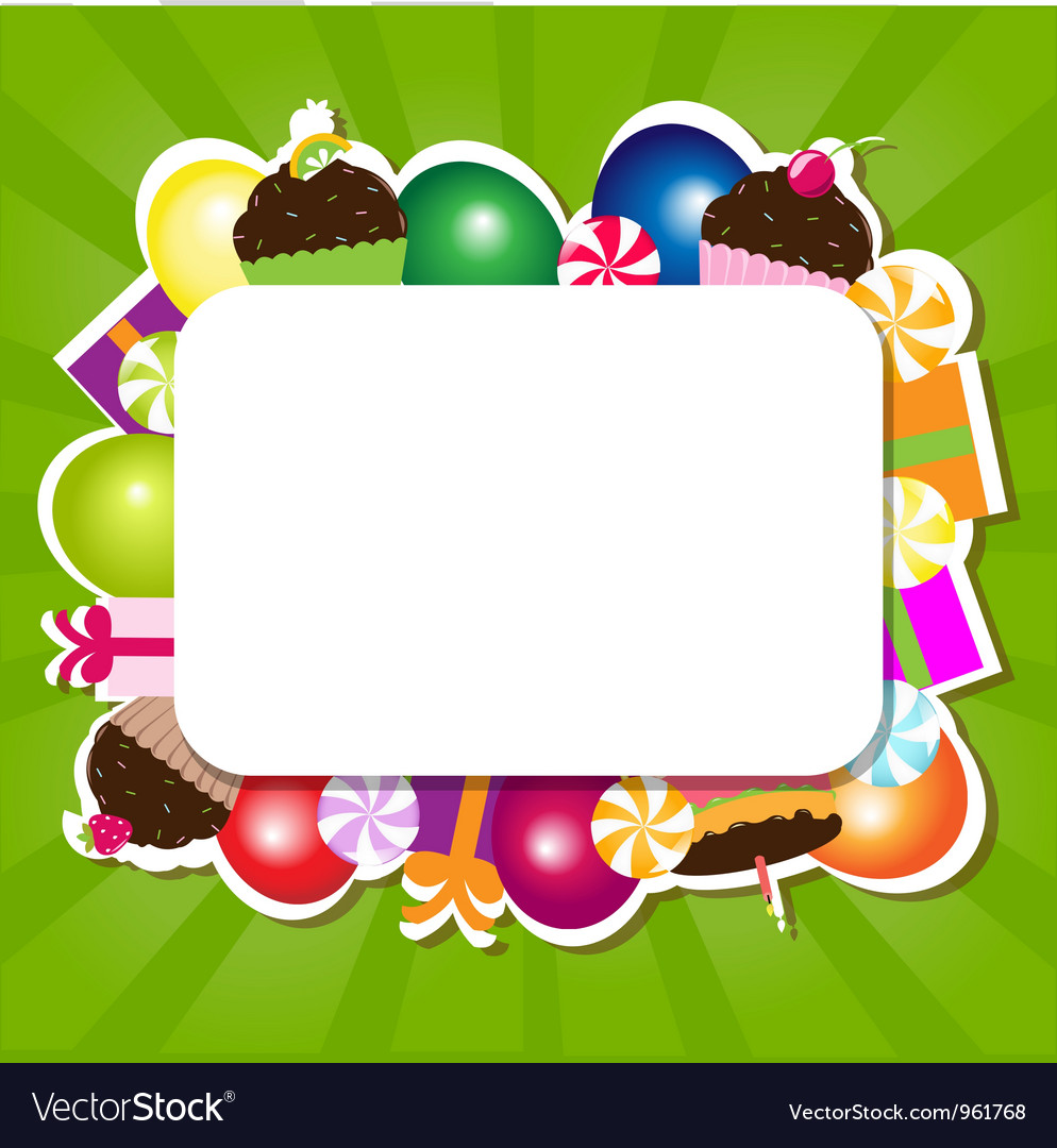 Confectionery frame vector | Price: 1 Credit (USD $1)