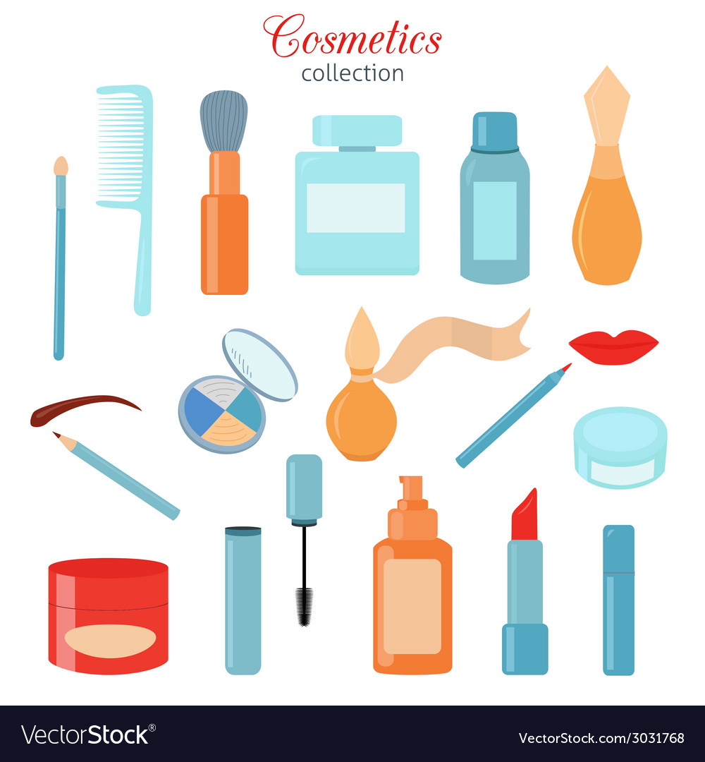 Cosmetic icons set vector | Price: 1 Credit (USD $1)