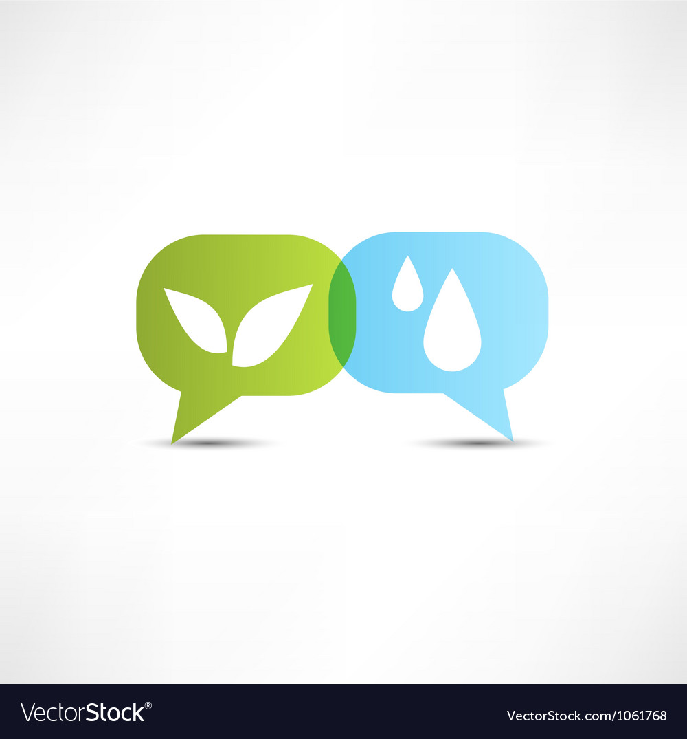 Eco water and vegetation symbol vector | Price: 1 Credit (USD $1)