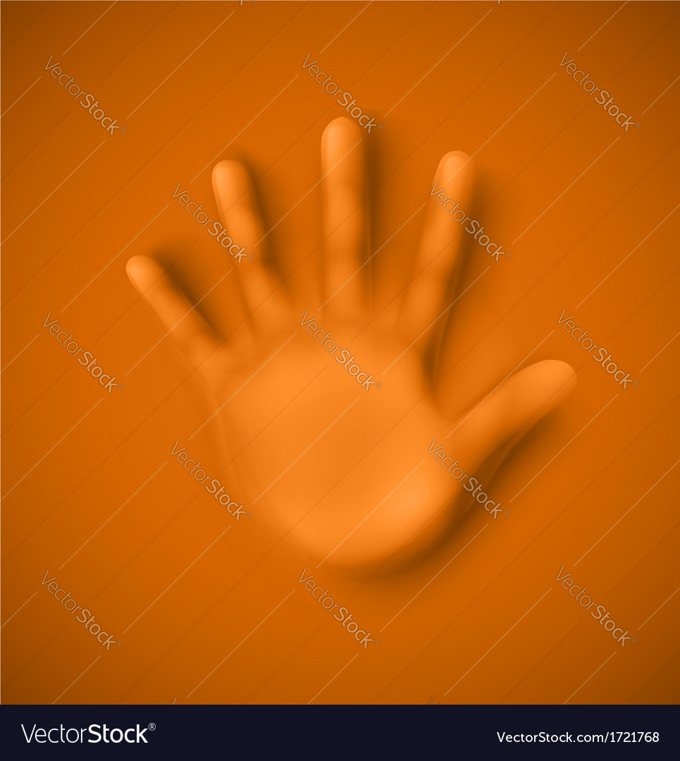 Human palm vector | Price: 1 Credit (USD $1)