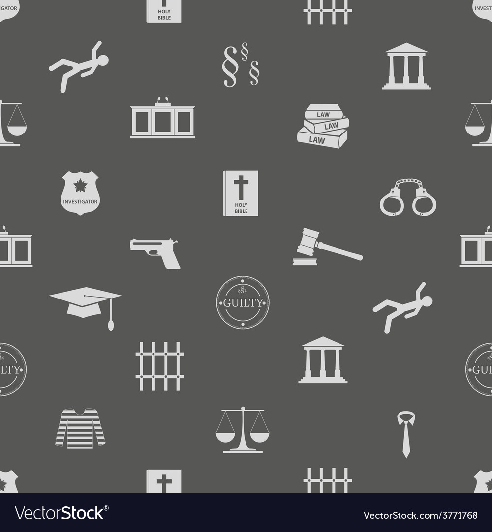 Justice and law icons seamless pattern eps10 vector | Price: 1 Credit (USD $1)