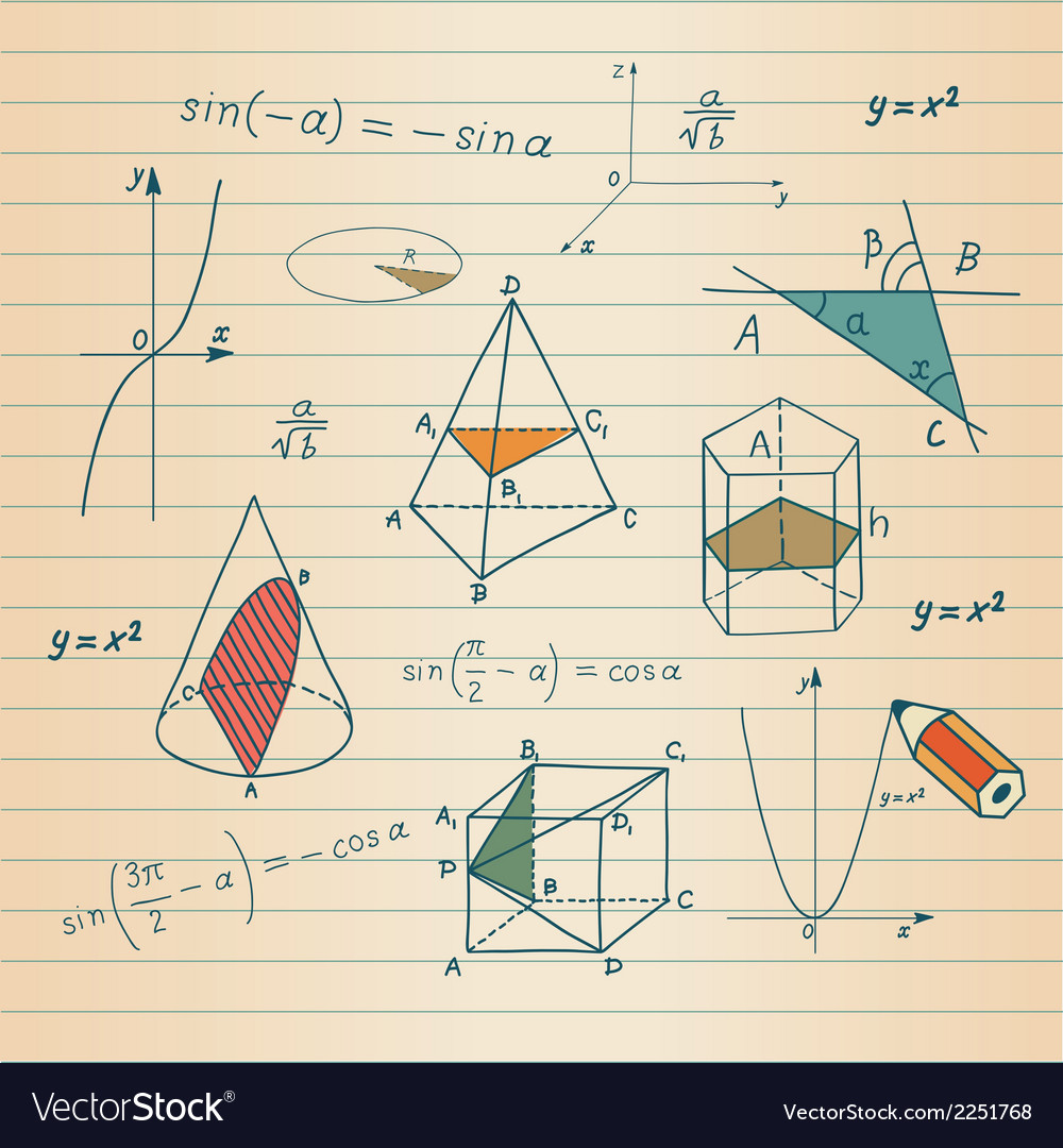Mathematics - geometric shapes and expressions ske vector | Price: 1 Credit (USD $1)