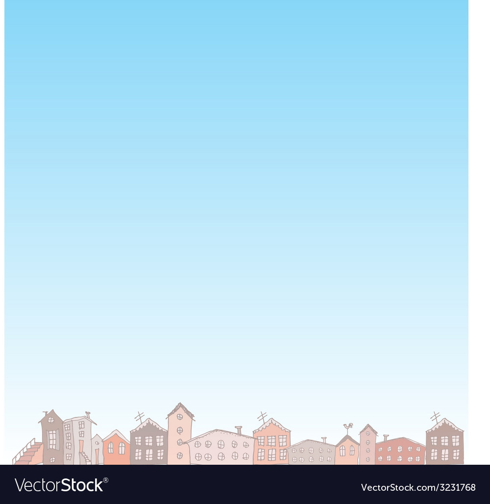 Nature blue background with city vector | Price: 1 Credit (USD $1)