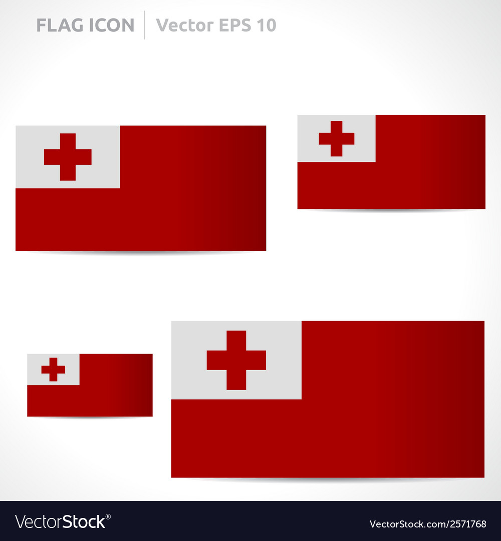 Tonga flag template vector | Price: 1 Credit (USD $1)