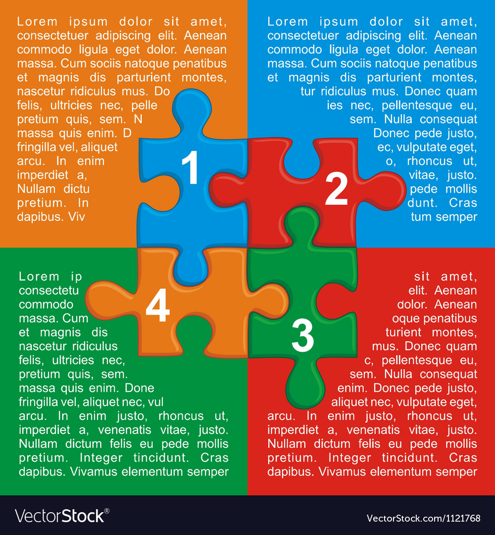 With puzzle and place for your text vector | Price: 1 Credit (USD $1)