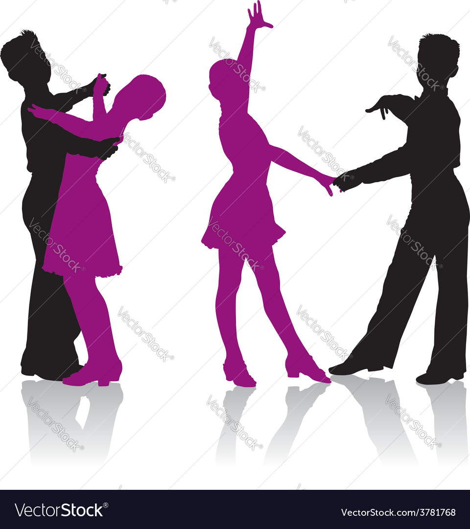 Young ballroom dancers vector | Price: 1 Credit (USD $1)