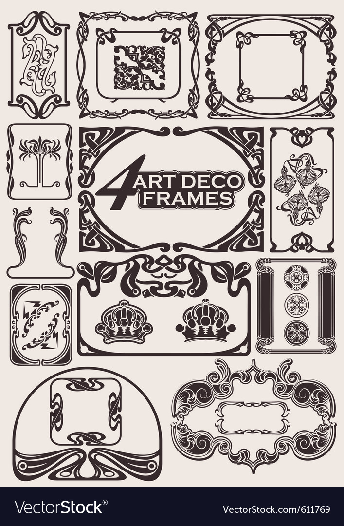 Ancient frames vector | Price: 1 Credit (USD $1)