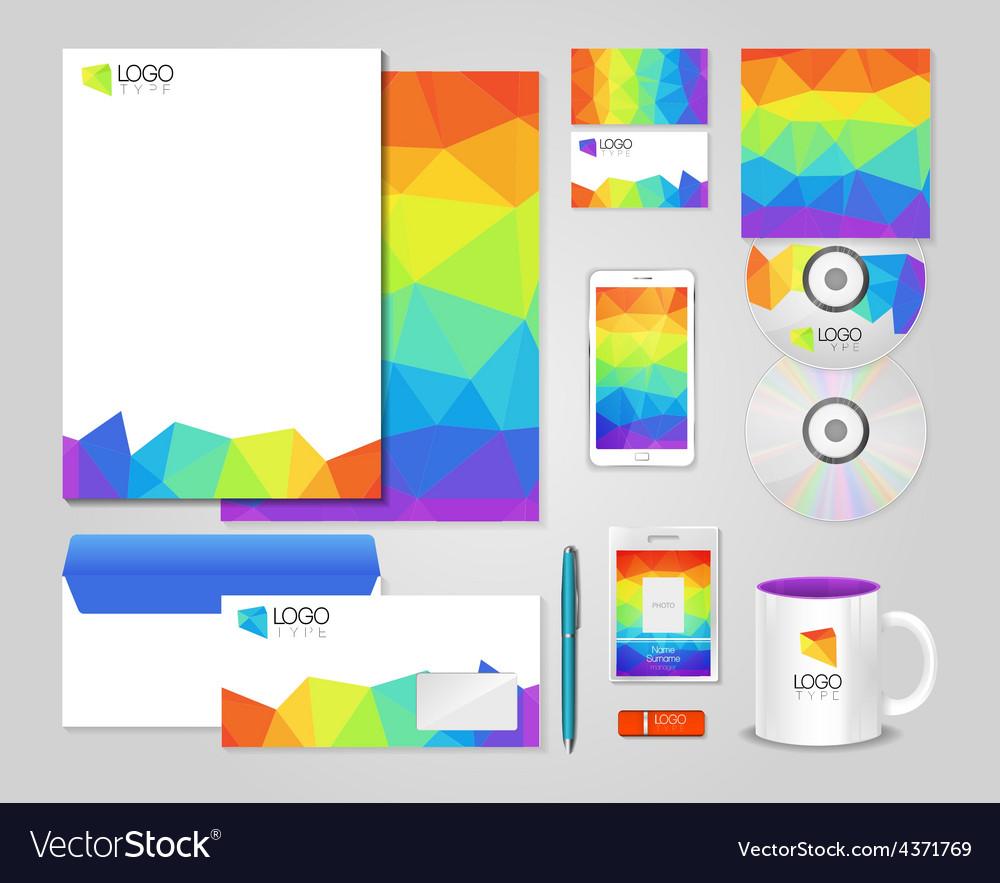 Bright corporate identity template vector | Price: 1 Credit (USD $1)