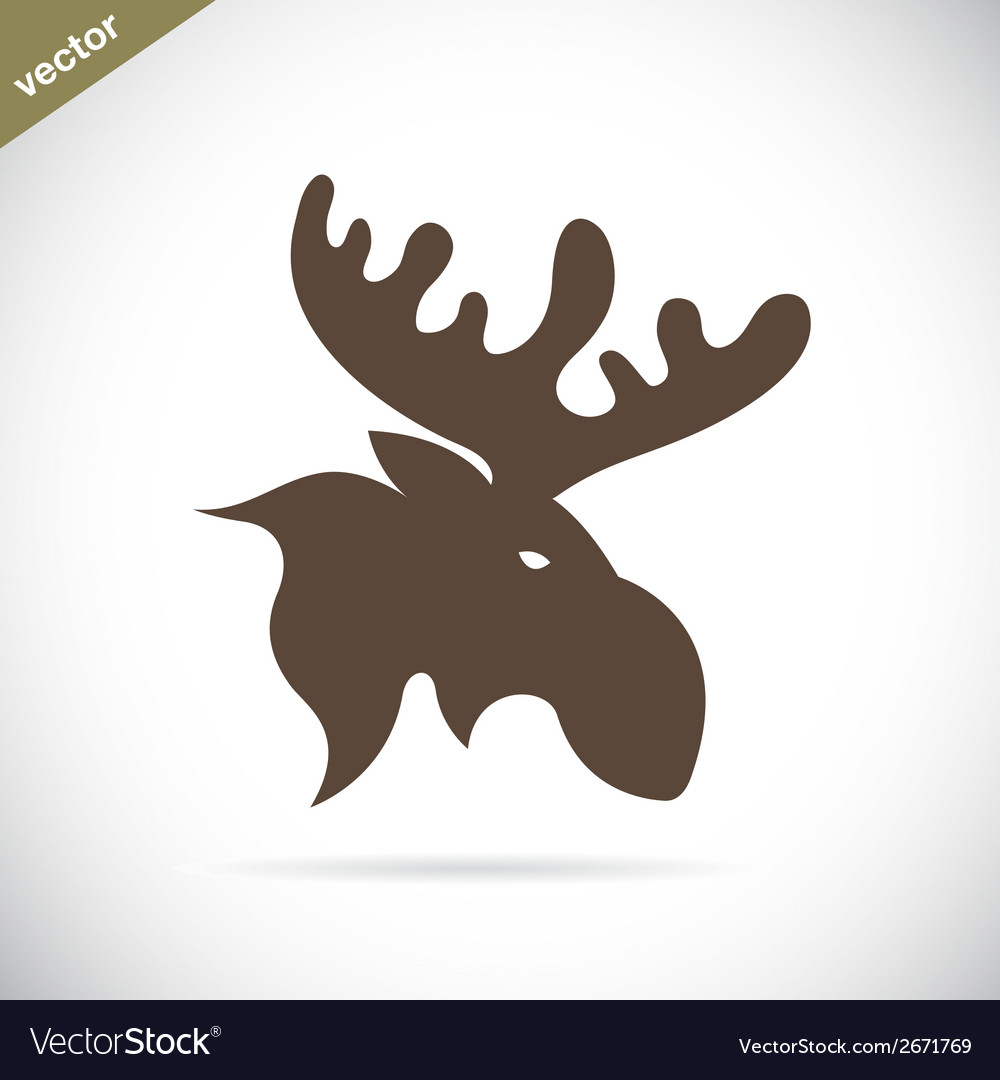 Deer moose vector | Price: 1 Credit (USD $1)