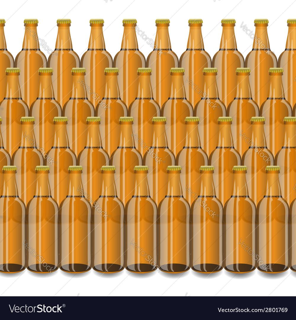 Glass beer brown bottle vector | Price: 1 Credit (USD $1)
