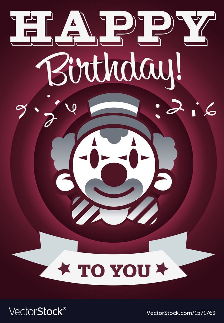 Happy birthday invitation greeting card vector | Price: 1 Credit (USD $1)