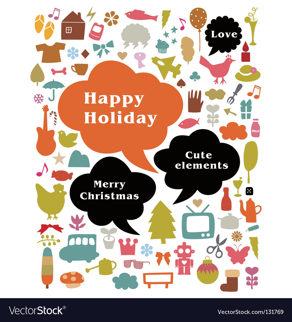 Happy holiday vector | Price: 1 Credit (USD $1)