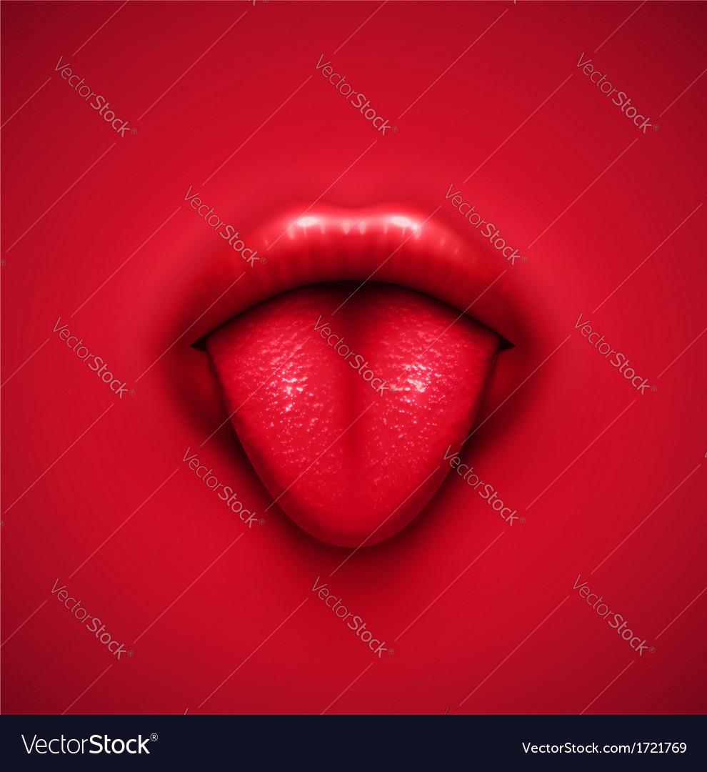 Human tongue vector | Price: 1 Credit (USD $1)