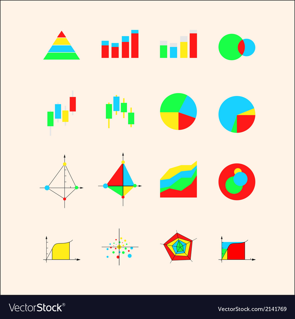 Icons for graphs and charts vector | Price: 1 Credit (USD $1)
