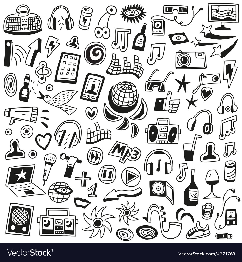 Music doodles vector | Price: 1 Credit (USD $1)