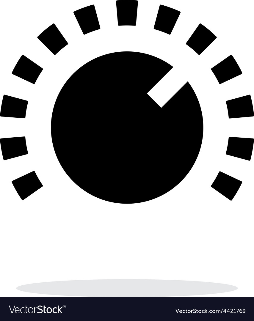 Music knob icon on white background vector | Price: 1 Credit (USD $1)