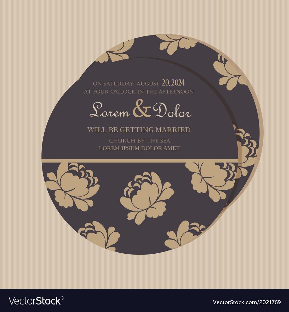 Round invitation card vector | Price: 1 Credit (USD $1)