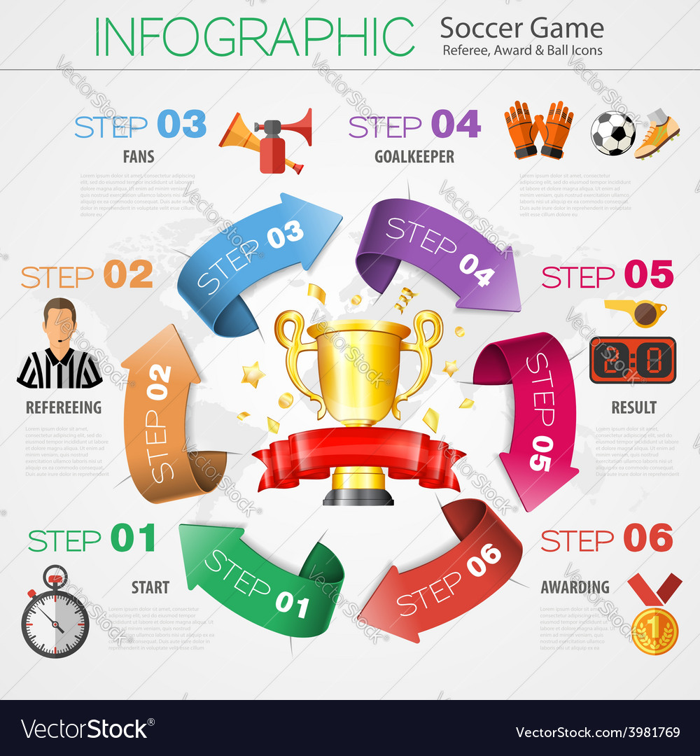 Soccer infographics vector | Price: 3 Credit (USD $3)
