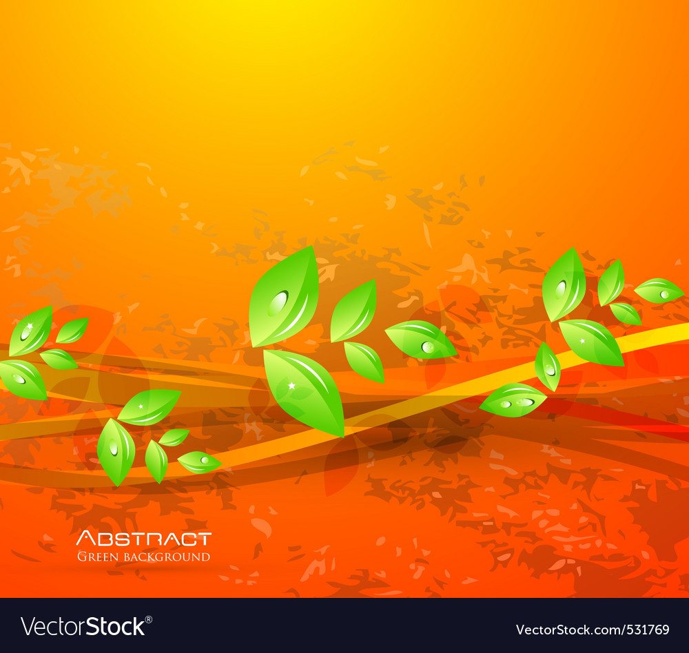 Sun leaves vector | Price: 1 Credit (USD $1)