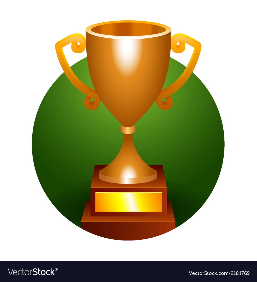 Trophy bronze cup vector | Price: 1 Credit (USD $1)
