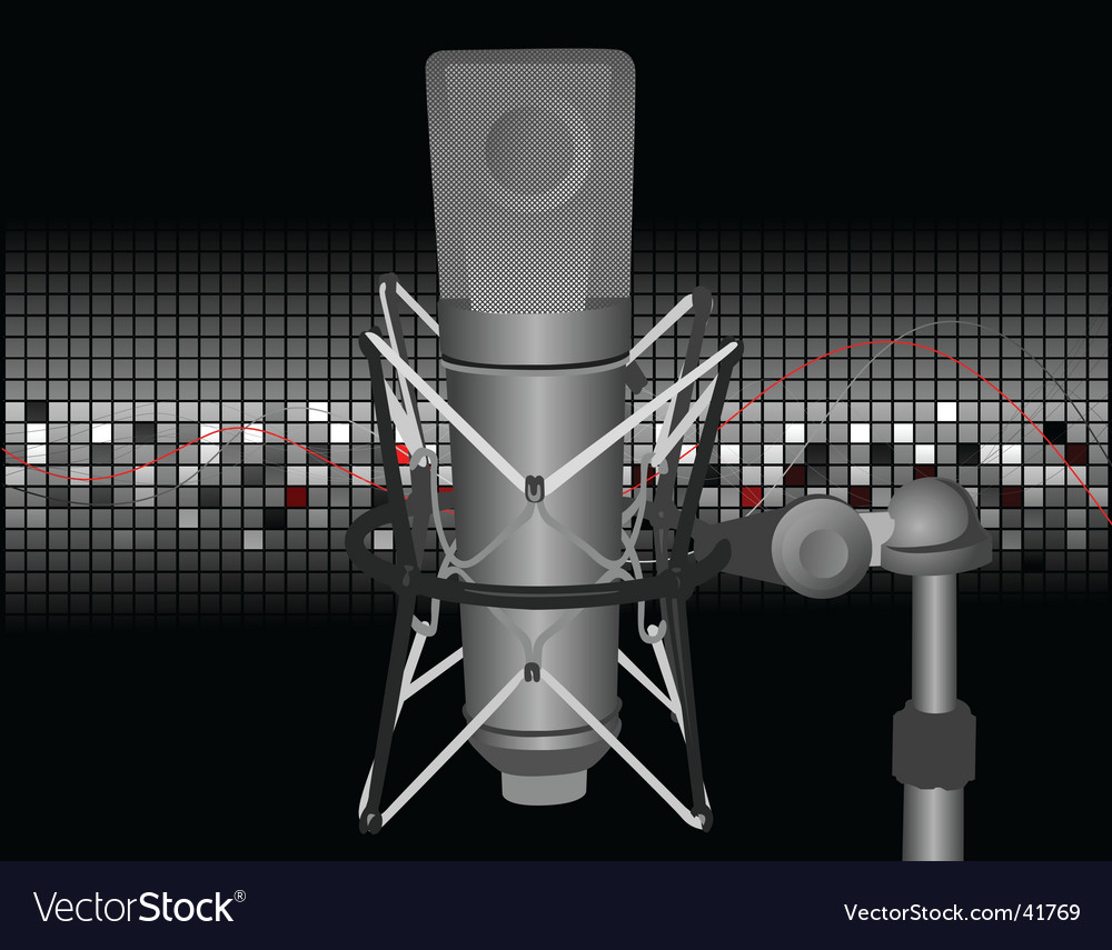 Vintage mic vector | Price: 1 Credit (USD $1)