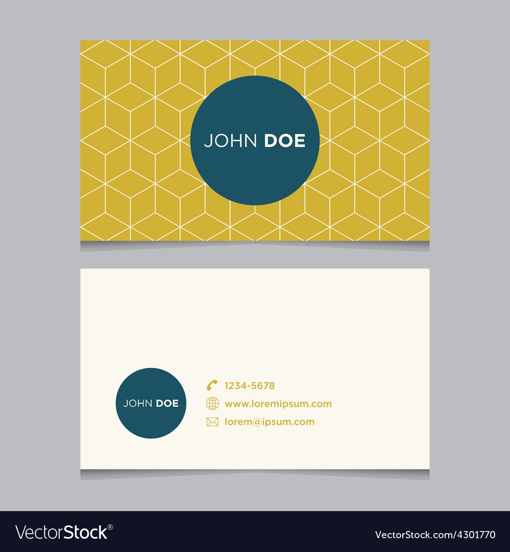 Business card pattern yellow 10 vector | Price: 1 Credit (USD $1)
