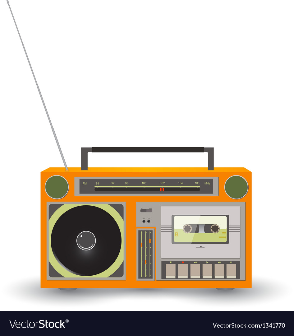 Cassette recorder icon vector | Price: 1 Credit (USD $1)