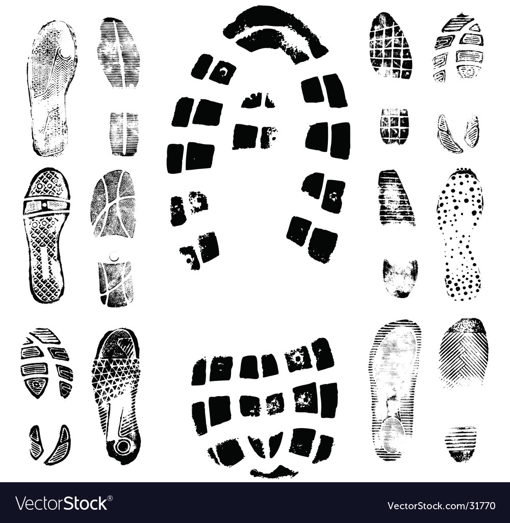 Footprint traces vector | Price: 1 Credit (USD $1)