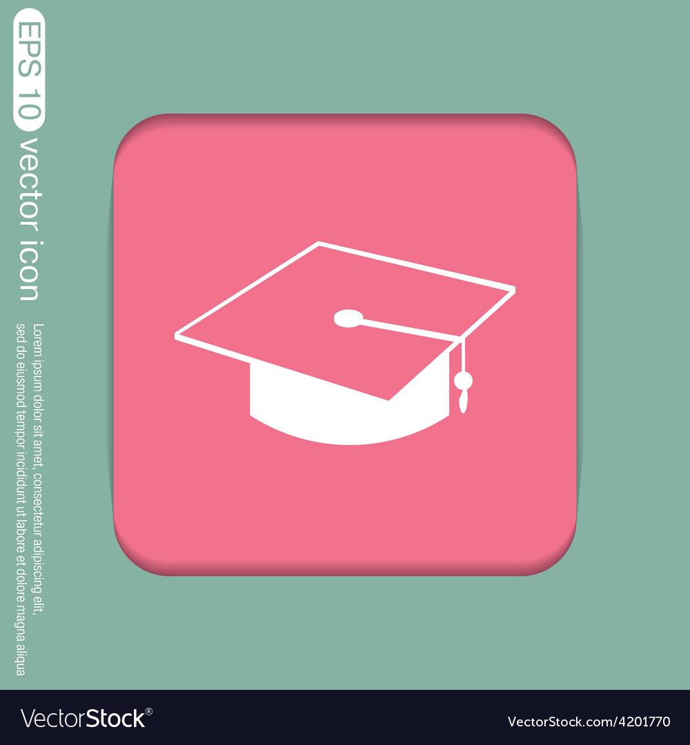 Graduate hat education sign vector | Price: 1 Credit (USD $1)