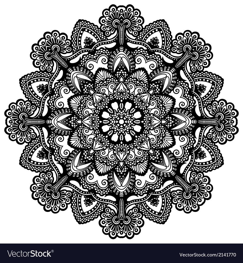 Ornamental geometric doily pattern vector | Price: 1 Credit (USD $1)