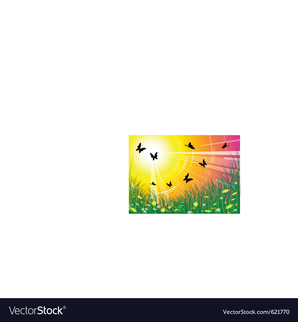 Spring meadow vector | Price: 1 Credit (USD $1)