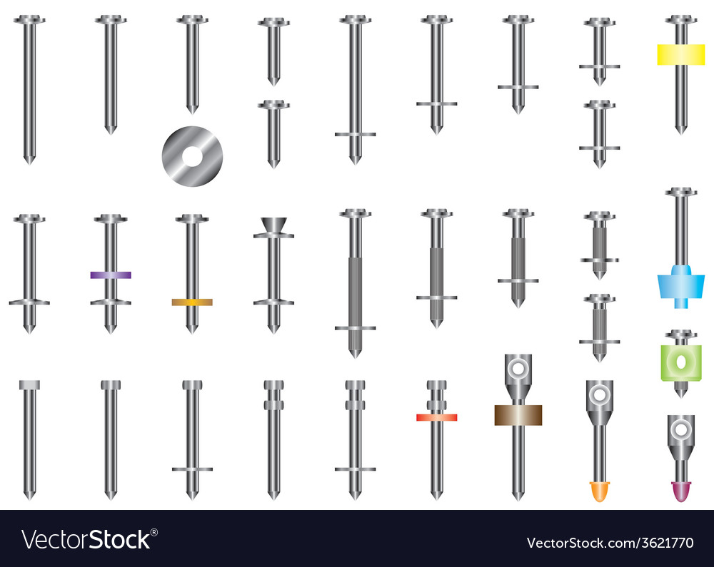 Steel nails vector | Price: 1 Credit (USD $1)