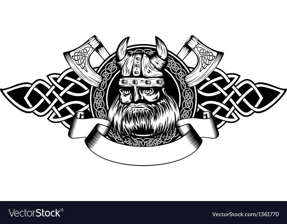 Viking in frame vector | Price: 1 Credit (USD $1)