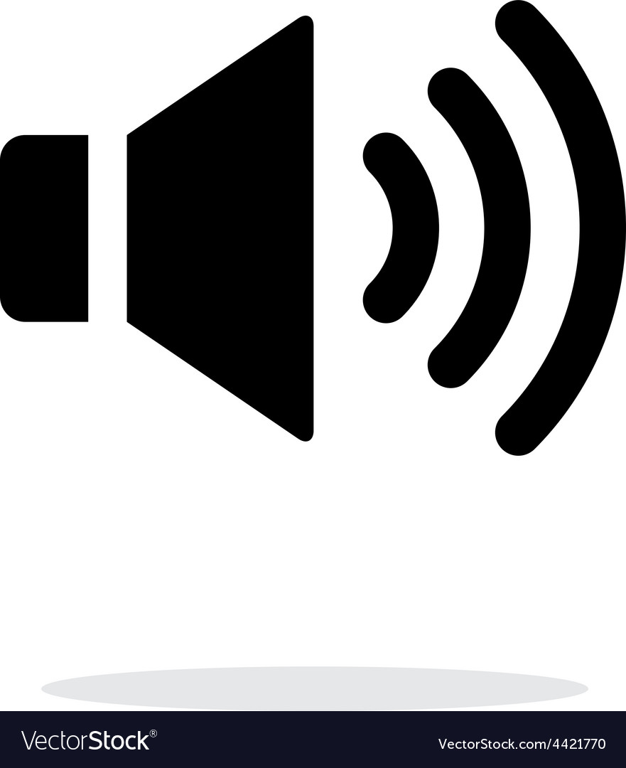 Volume max speaker icon on white background vector | Price: 1 Credit (USD $1)