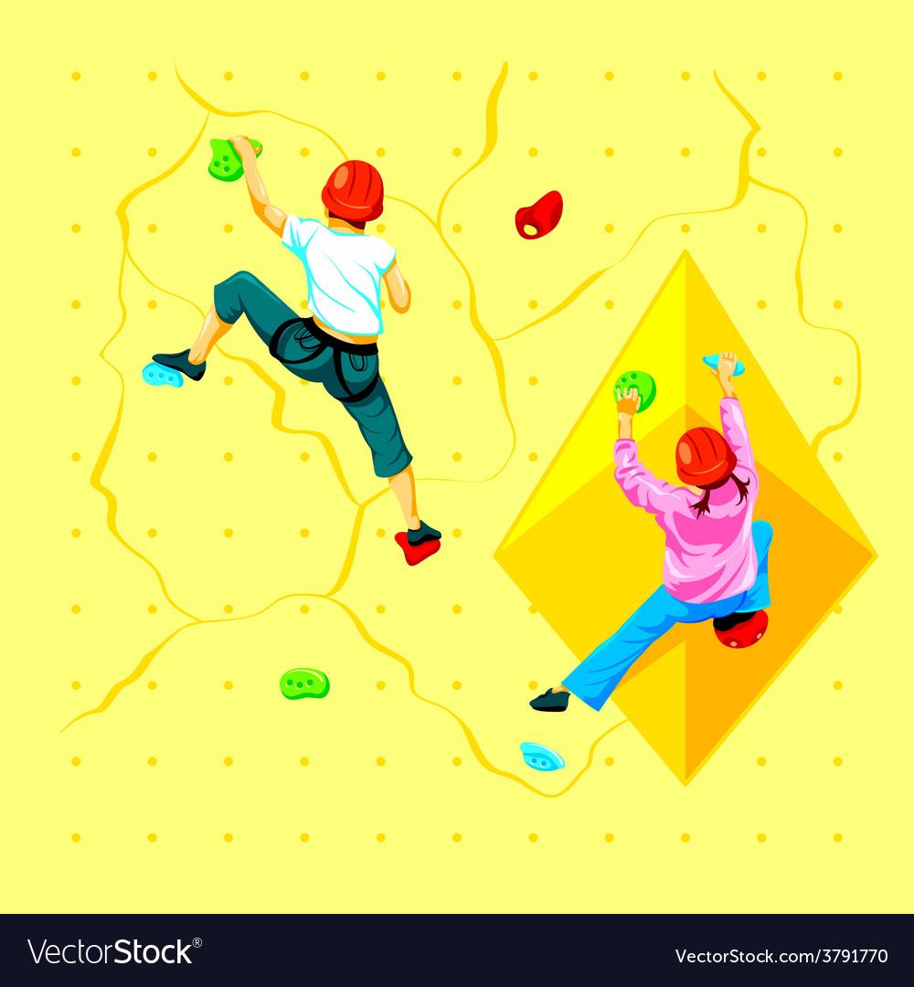 Wall climbing kids vector | Price: 1 Credit (USD $1)