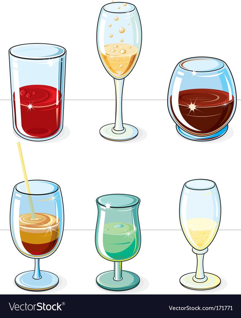 Beverages set vector | Price: 1 Credit (USD $1)